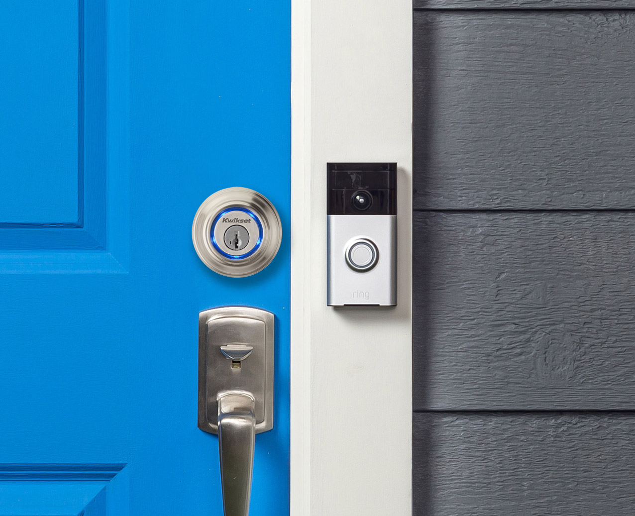 wireless front door cameraKwikset Kevo Smart Lock Now Works With Ring Video Doorbell